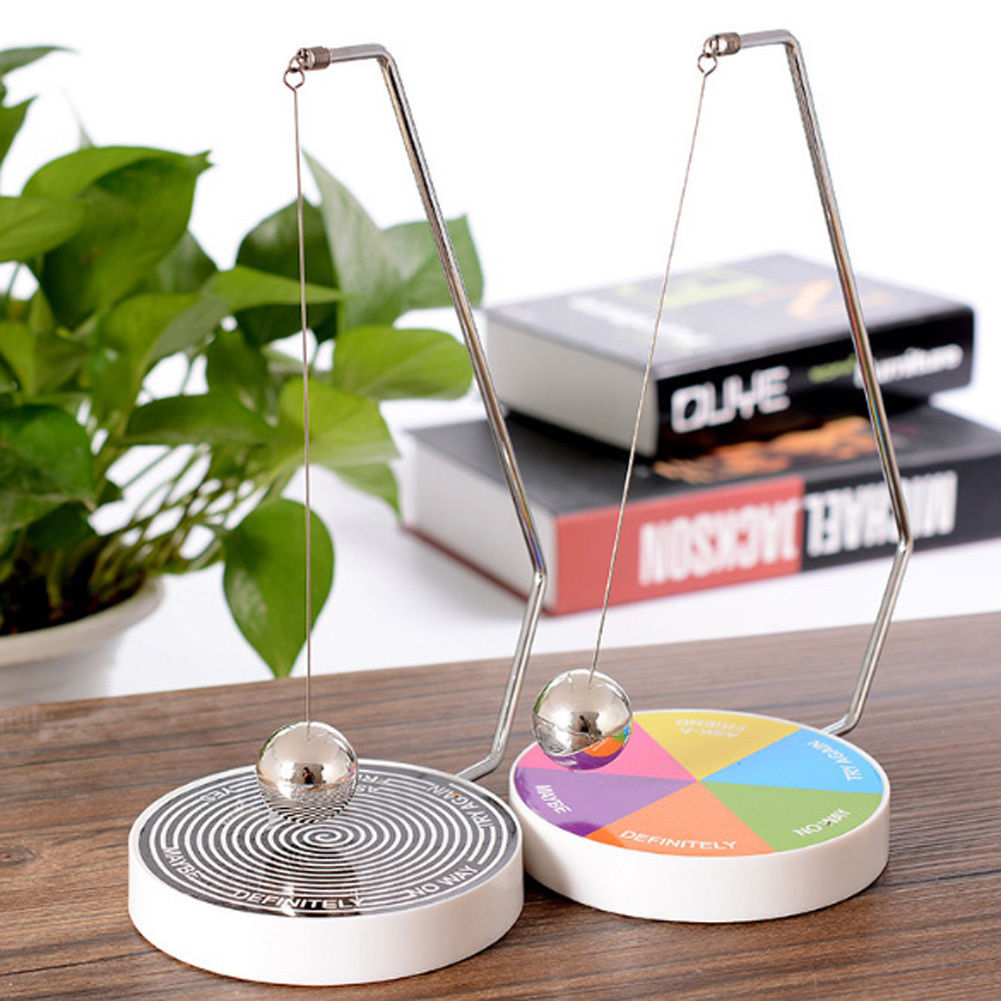 Creative Magnetic Decision Maker Swinging Pendulum Game Fun Desk Accessories Toy Desk Toys Office Desk Toys Office Toys