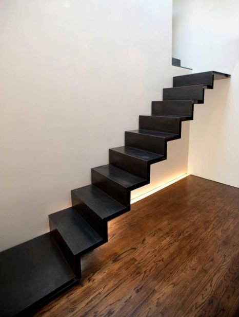 Best Black Cold Rolled Steel Stairs Resemble One Solid Piece Of 400 x 300