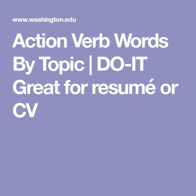 DO-IT Great For Resumé Or CV