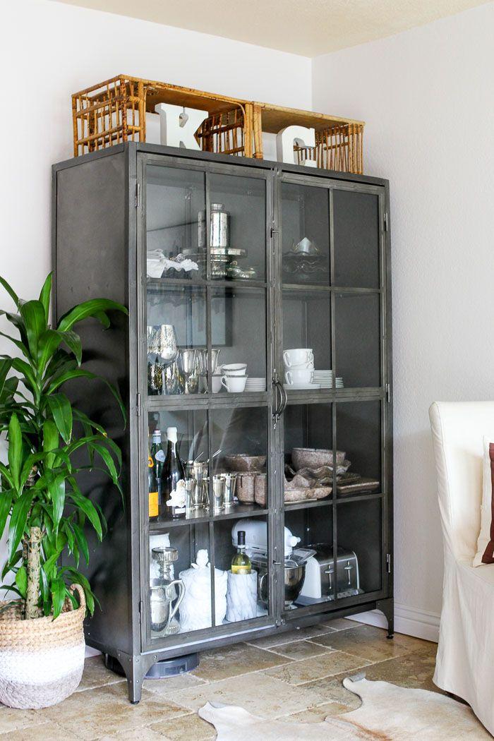 Metal Display Cabinet Kitchen Display Cabinet Home Modern