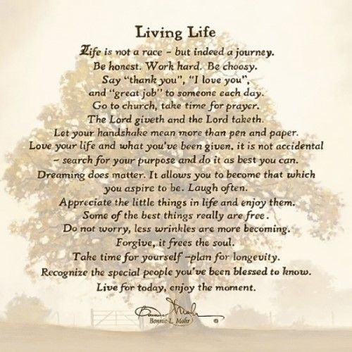 Living Life Poster Print By Bonnie Mohr (18 X 18) | Printing And Products