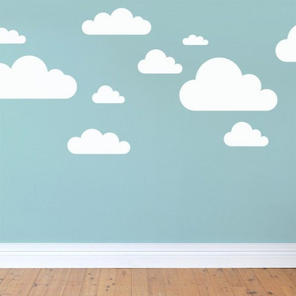 Cloud Wall Stickers Are A Simple But Effect Idea For Nursery - Nursery wall decals clouds
