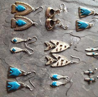 Native American Southwestern Turquoise Earrings