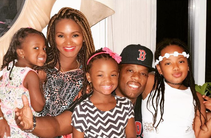 MICHAEL BIVINS WITH HIS BEAUTIFUL WIFE AND CHILDREN