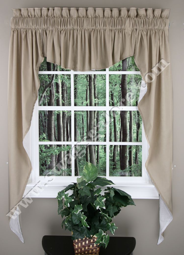 Awesome Kitchen Swag Valance Curtains | Home U003e Kitchen Curtains U003e Kitchen Valances  U003e Emery 3PC Swag