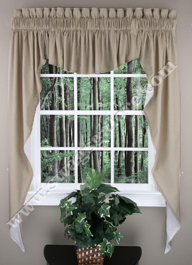 Kitchen Swag Valance Curtains | Home U003e Kitchen Curtains U003e Kitchen Valances  U003e Emery 3PC Swag