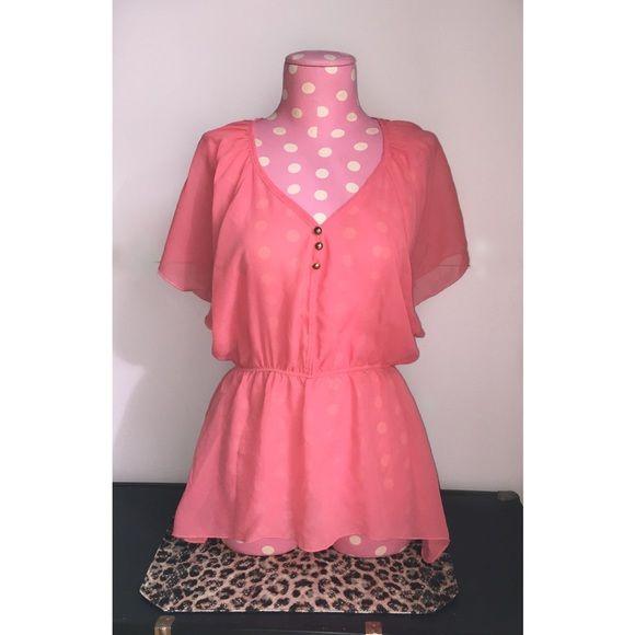 Rue 21 sheer blouse EUC size medium. Free ship through ️ invoicee Rue 21 Tops Blouses