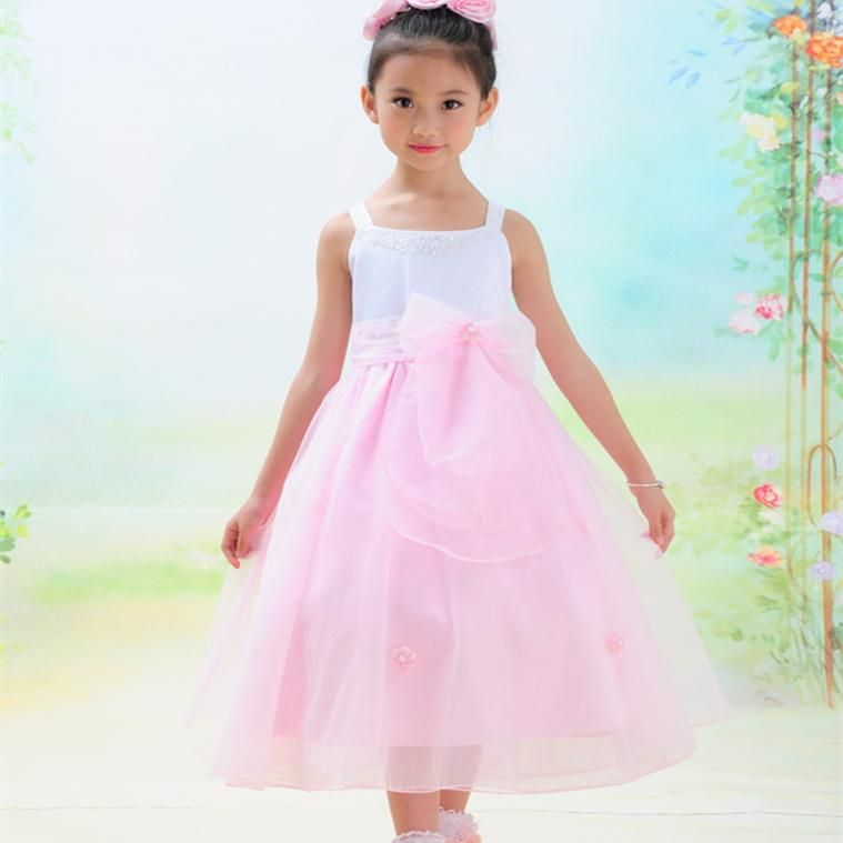 2017 Birthday Party Wear Young Girls Long Puffy Dresses Pink ...