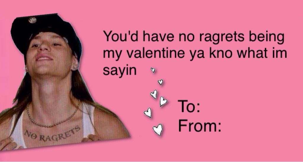 No Ragrets Valentine Card on We Heart It | Lighten up | Pinterest ...