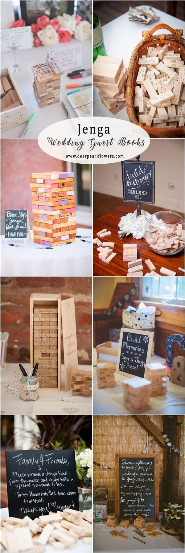 Unique Wood Jenga Wedding Guest Book Ideas Weddings Weddingguestbooks Weddinginspiration Weddin Hochzeit Gastebuch Ideen Hochzeit Lustig Gastebuch Hochzeit