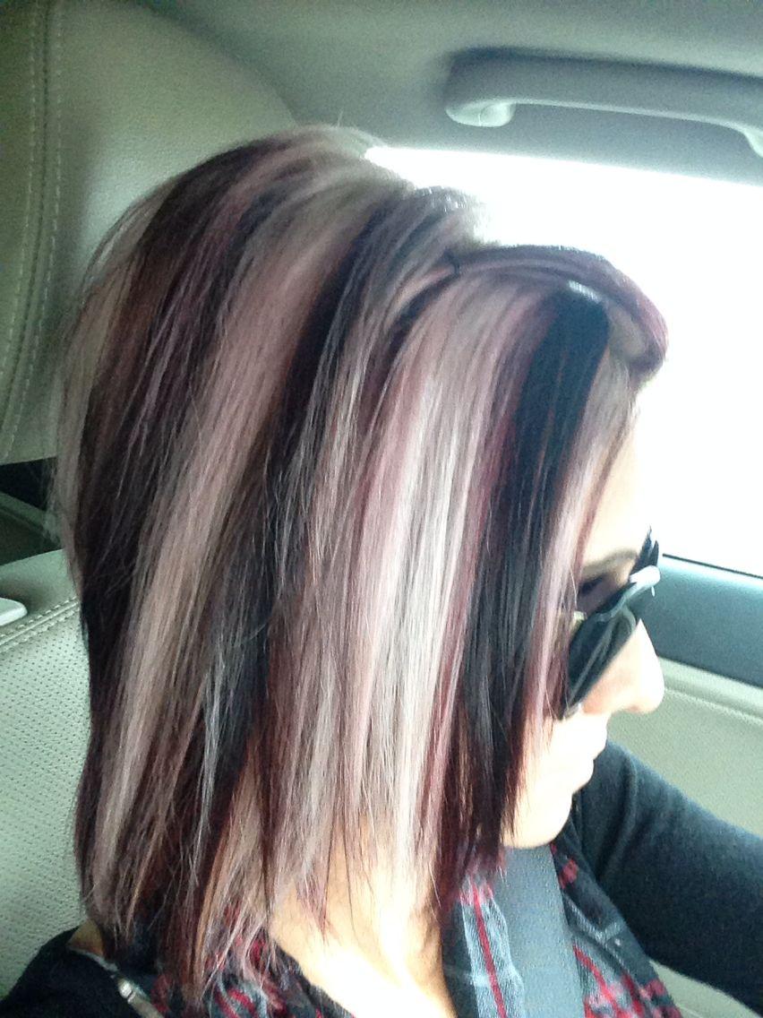 Fabulous Fall Colors Red Magenta And Platinum Blonde