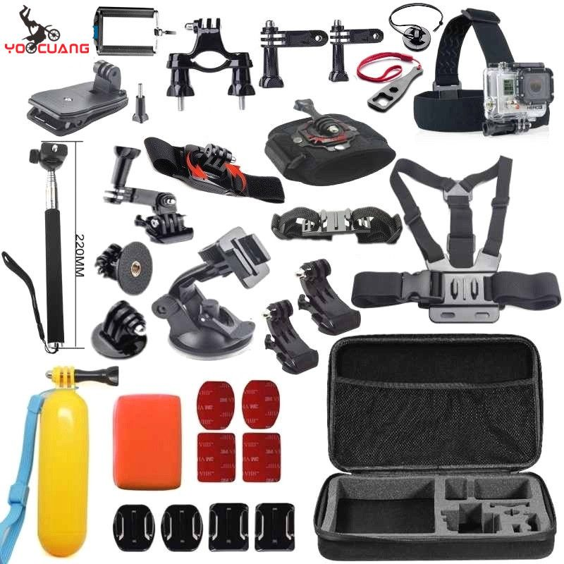>> Click to Buy << YOOCUANG for GoPro accessories Set Shockproof Bag J-Hook Mount suction cup for Go pro Hero 5 5S 4 3+ 2 1 xiaomi yi camera Y48 #Affiliate
