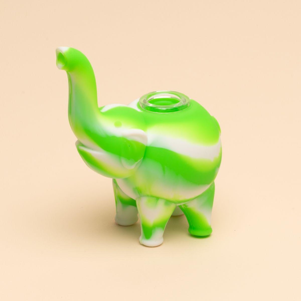 Mini Elephant Silicone Bubbler Casual Recreation Bubbler Elephant Elephant Design