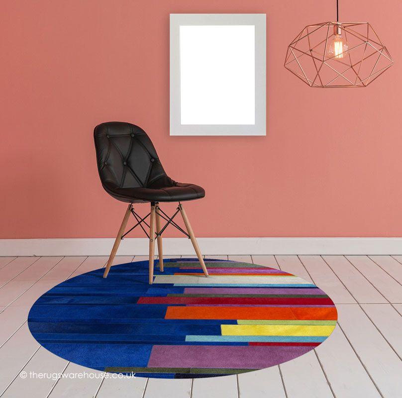 Pali Multipla Blue Circle Rug Round Rugs Circle Rug Rugs On Carpet
