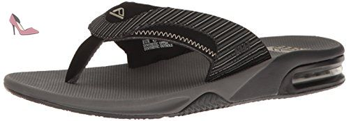 Reef Fanning, Tongs Hommes, Multicolore (Grey Pinstripes), 39 EU -  Chaussures