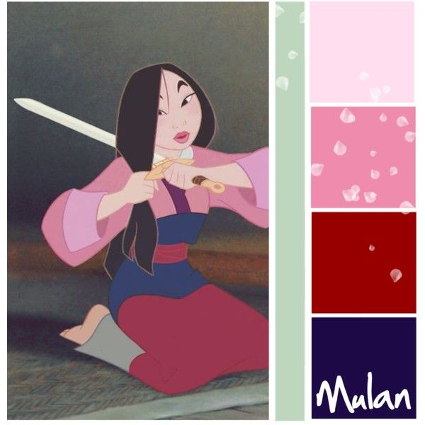 Mulan Color Scheme By Totallytrue On Polyvore Featuring And Art Mixing Chart