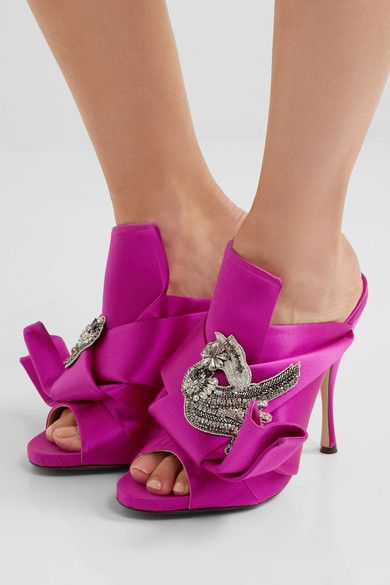 No21 Embellished satin sandals UAFsf