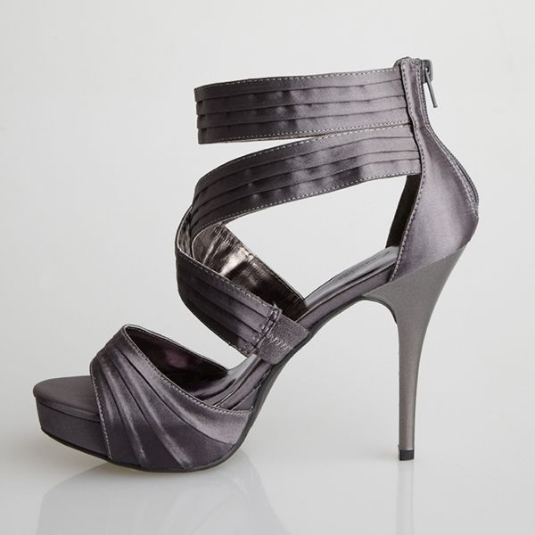 Pewter Heels For Wedding: Allure Bridal - Carrie Pewter Is A
