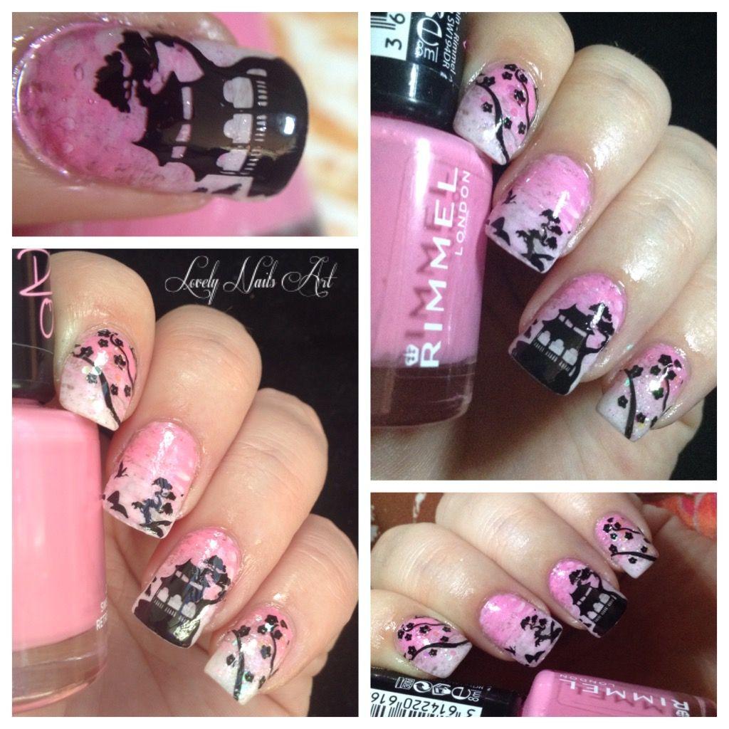 Nail art stamping *japon* | Nail art stamping | Pinterest | Fan brush