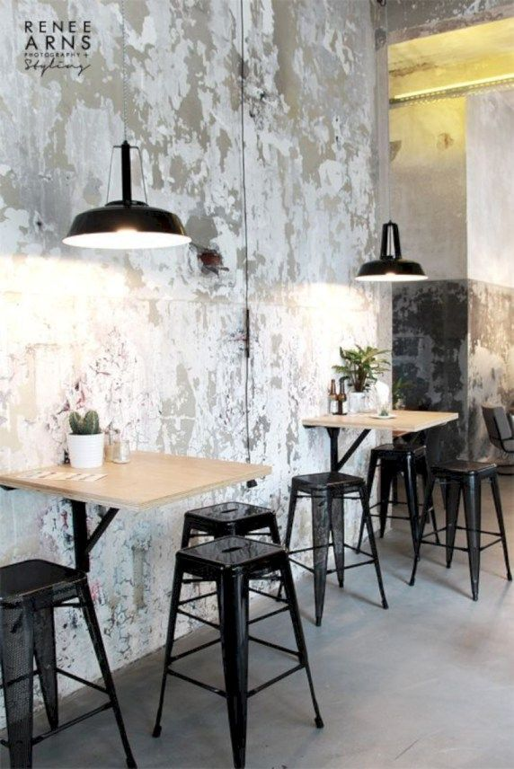 40 Exposed Concrete Walls Inspiration Ideas is part of Cafe decor - Concrete walls are mostly used in house building, and it is practically available everywhere around the house  If the walls are usually painted, can its raw form be used as a part of interior design  Of course, why not  Take a closer look at the pictures of 40 exposed concrete walls inspiration ideas below