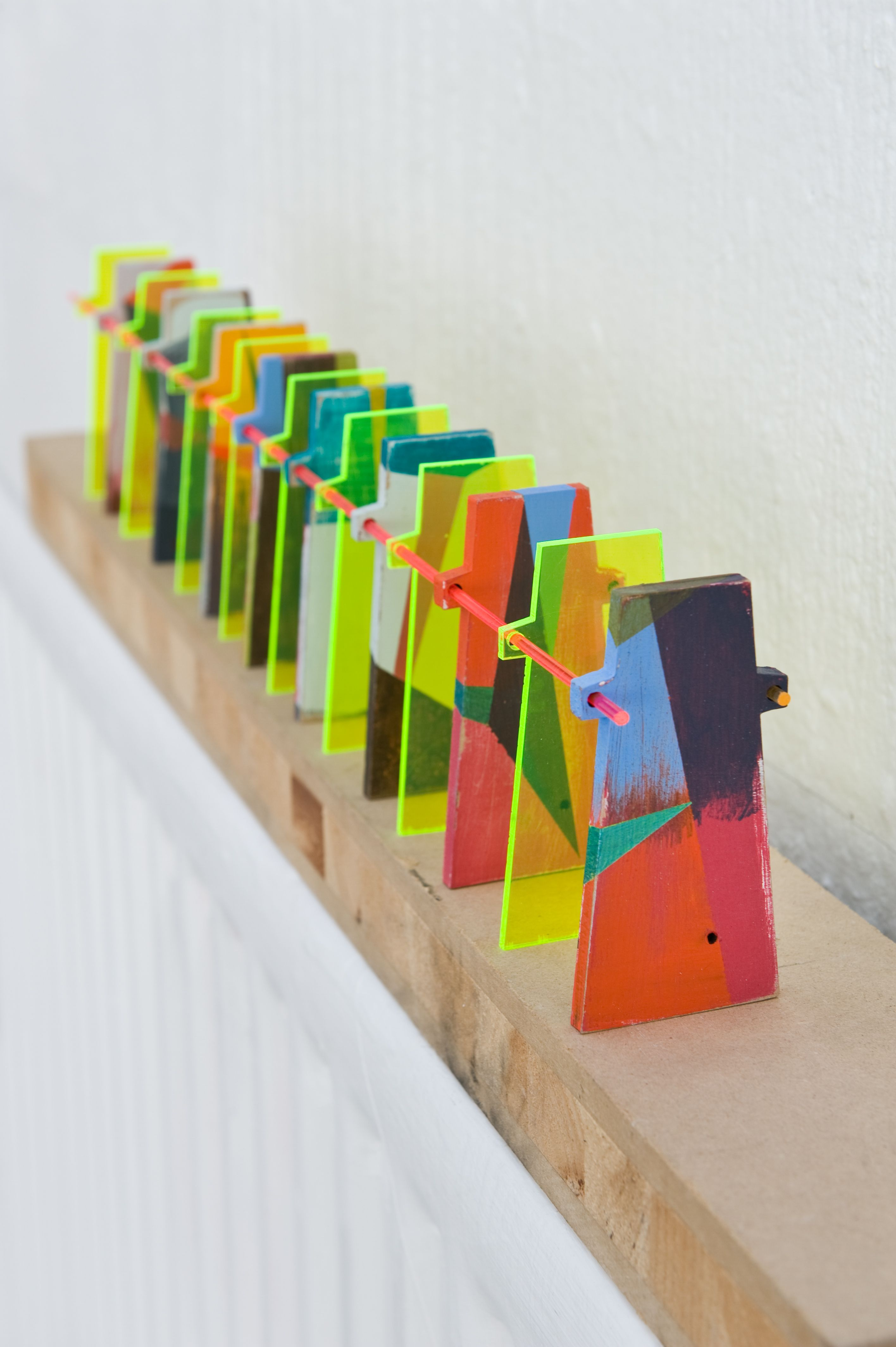 Ipoot S Army Mini Installation Acrylic On Wood And Perspex Rods Acrylic Designs Acrylic Art Acrylic Rod