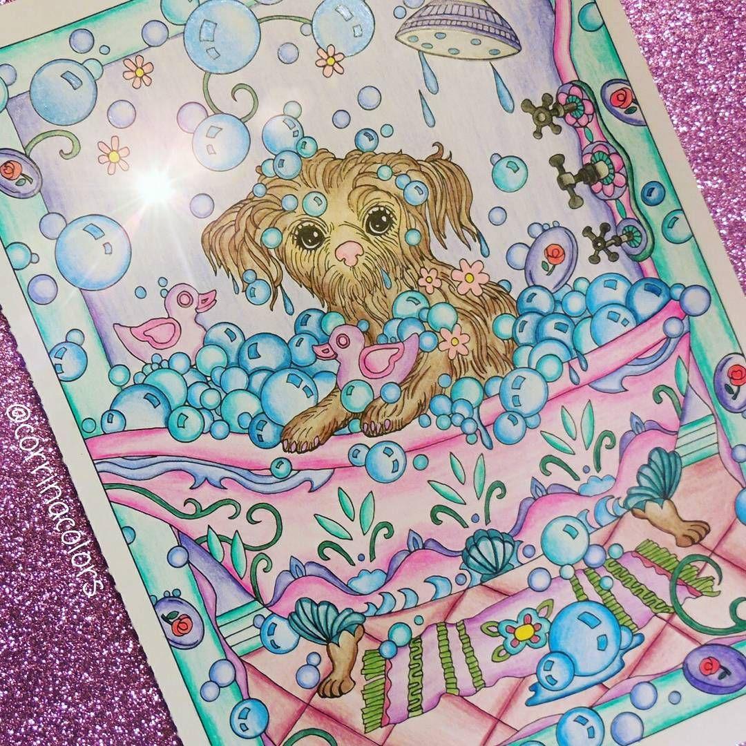 Dazzling Dogs Coloring Book Art Work By Marjorie Sarnat