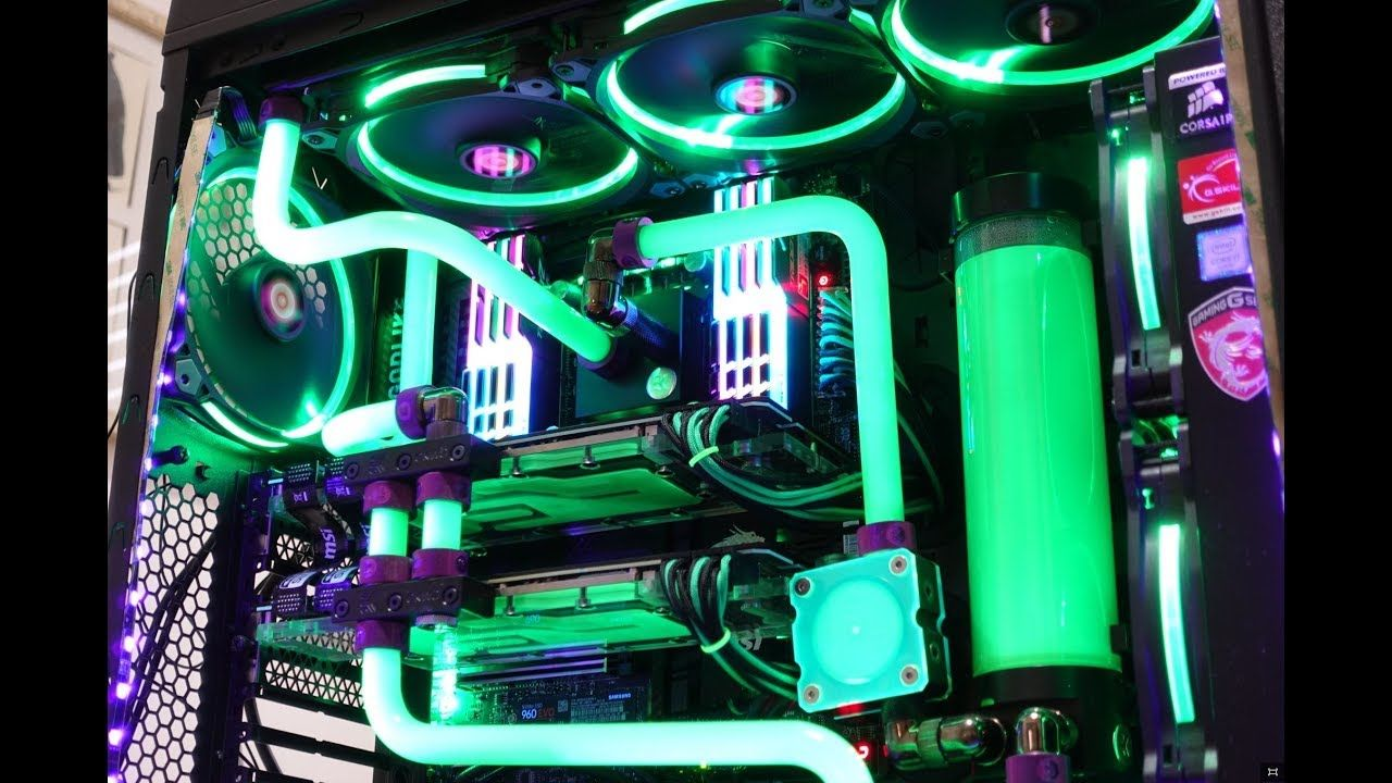 Thermaltake Core V71 Custom Water Cooled Pc Build Water Cooling