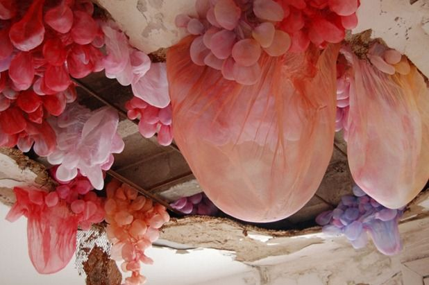 Installations by Lisa Kellner.. I absolutely love this!
