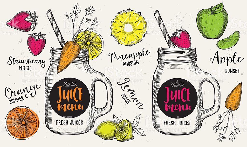 カフェ デザイン イラストの画像検索結果 イラスト Juice Menu