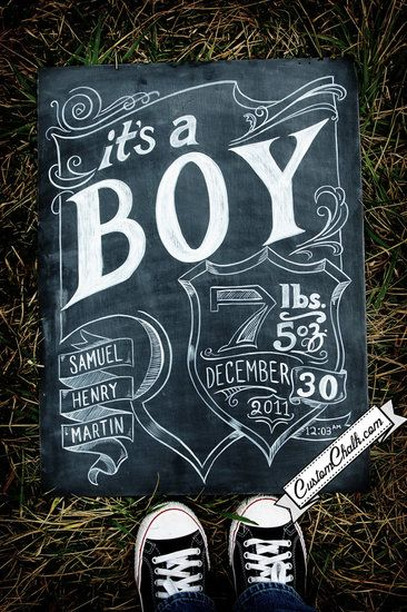 Permanent chalkboard art! Create with regular chalk, then paint over it with acrylic paint to make it last.