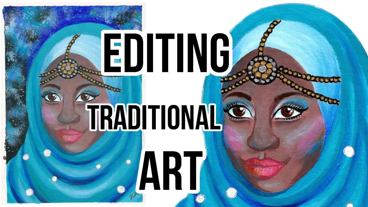 How To Edit Art In Gimp Editing Scanned Traditional Drawings For Art Gimp Art Art Prints