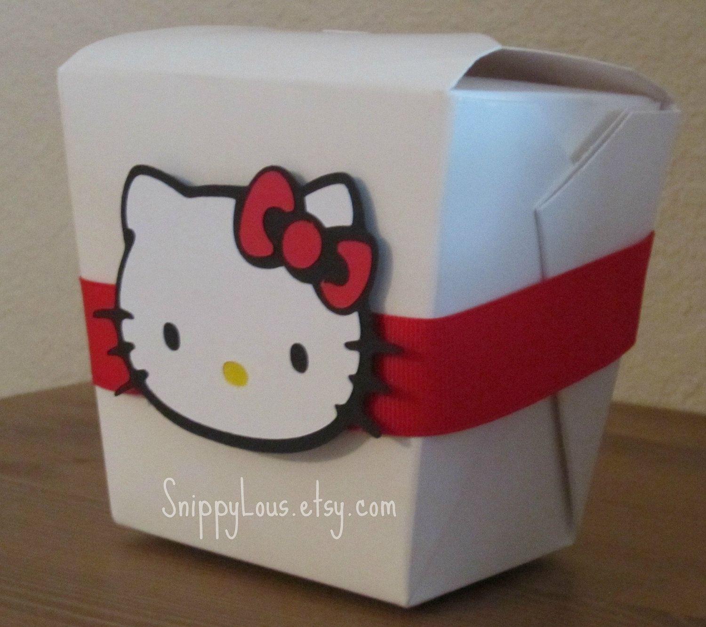 White Kitty Favor Boxes Set Of 12. 15.00