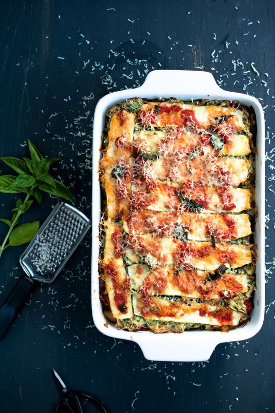 Ricotta, Kale, Roast Pumpkin and Zucchini Lasagna (gf)