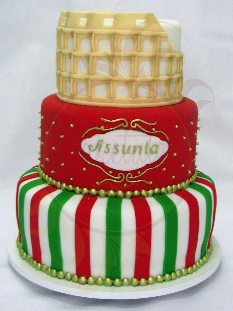 09ed38b32054 Italy Cake - Caketutes Cake Designer: Bolo Italia | bolo decorado ...