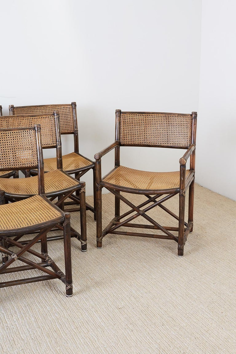 Set Of Eight Mcguire Bamboo Rattan Cane Dining Chairs Dining Chairs Bamboo Dining Chairs Cane Dining Chairs