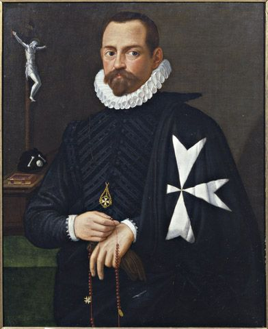Unknown Portrait Of A Knight Of The Order Of Malta Florentine 16th