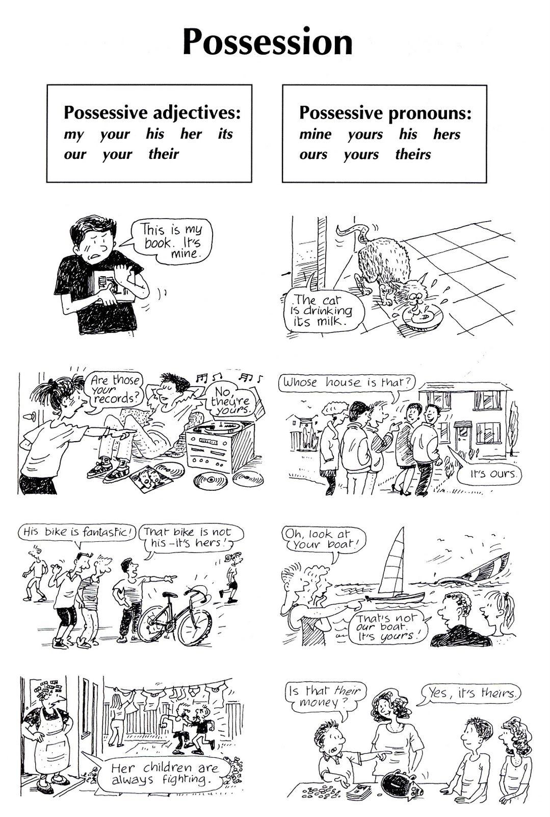 Possessive Adjectives Possessive Pronouns Worksheets Pinterest
