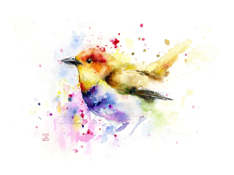Bird Prints Bird Painting Birds Art Giclee Print Birds