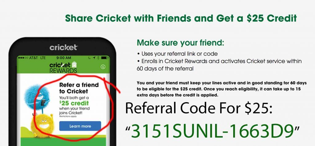 Cricket Rewards Referral Code Coupons Promo Codes Deals