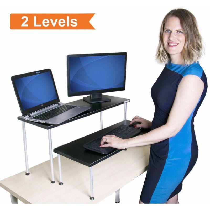 Order A Stand Steady Latitude Black Standing Desk Converter Tnsdbl