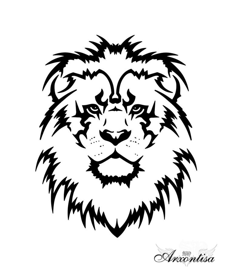 Must Paint This On A T Shirt Of On The Back Of A Jacket Tribal Lion Tattoo Lion Tattoo Lion Head Tattoos