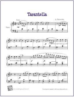 Tarantella Pieczonka Piano Sheet Music Sheet Music