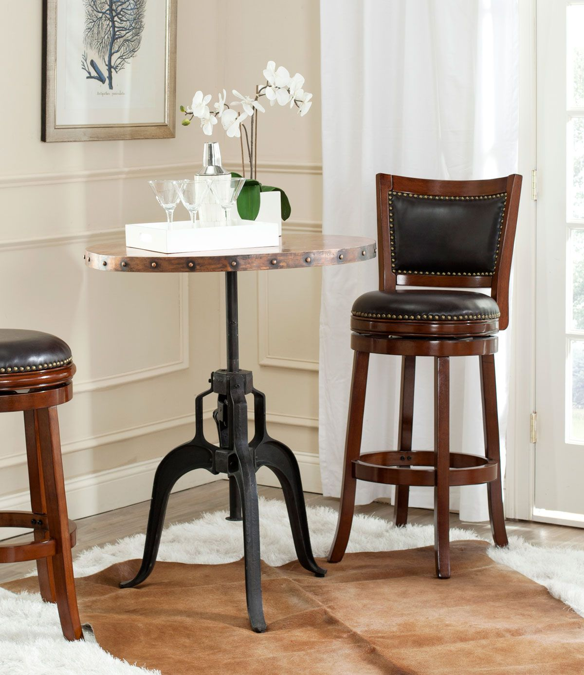 Fox7208a Dining Tables Furniture By Brown Bar Stools Bar