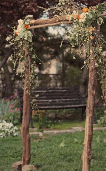 rustic wedding arches