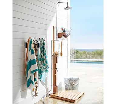 Outdoor Shower Outdoor Pool Shower Shower Shelves