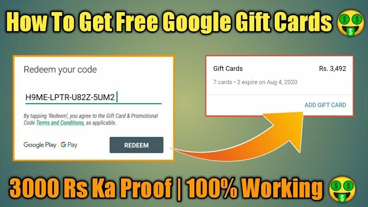 Free Google Play Gift Card Codes 2020 Free 50 Google Play Gift