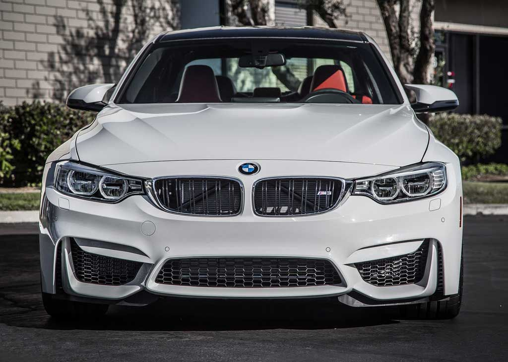 2017 Bmw M3 With White Silver Grills And Red Interior New