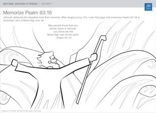 Memorize a bible verse together psalm 83 18 psalm 83 for Jw coloring pages