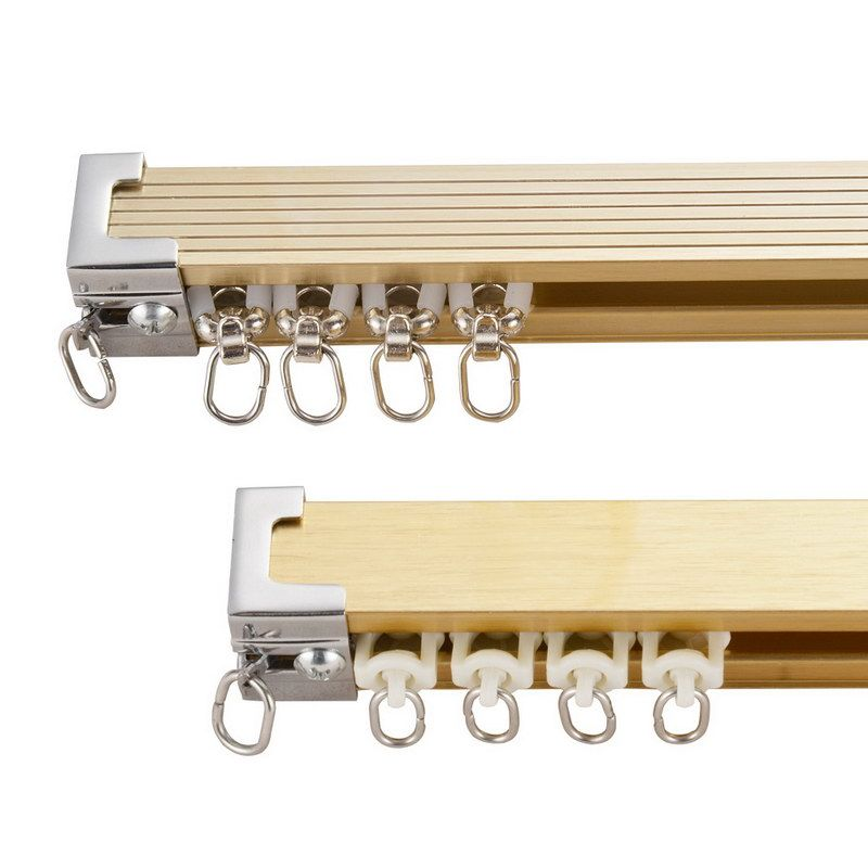 Gd42 Two Side Curtain Track Aluminum Track Szone Curtain Rods