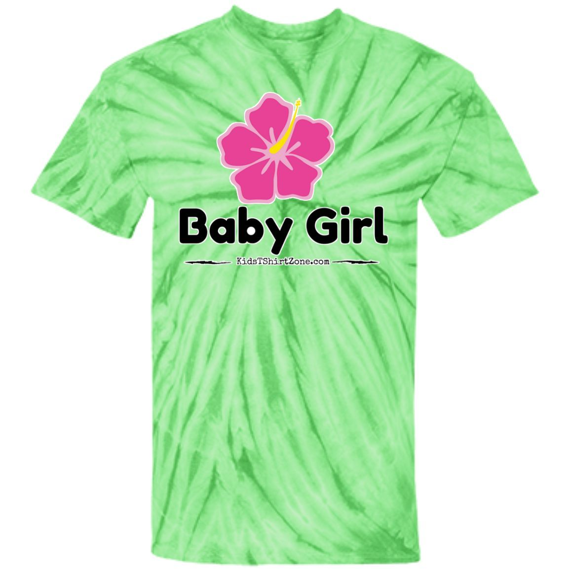 Youth Tie Dye T-shirt - Baby Girl pink flower